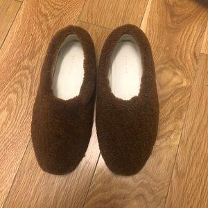 Celine cost slipper shearling flat